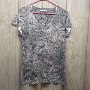 MAURICES Semi Sheer Tshirt With Jewel Embellishmen
